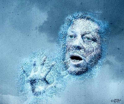 Al Gore frozen in block of ice