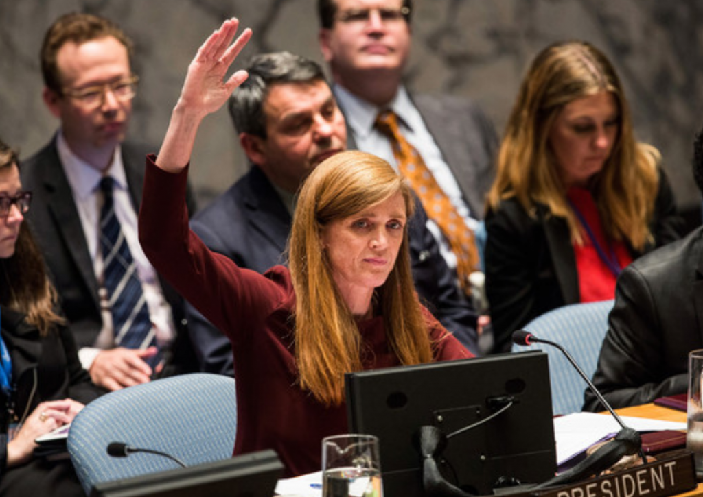 samantha power hand